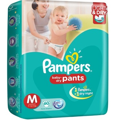 Pampers Pants Diaper M Size 60 Pieces