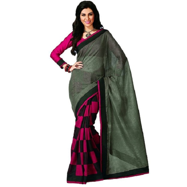 Sapna Women Wedding Bhagalpuri Art Cotton Silk Printed Saree