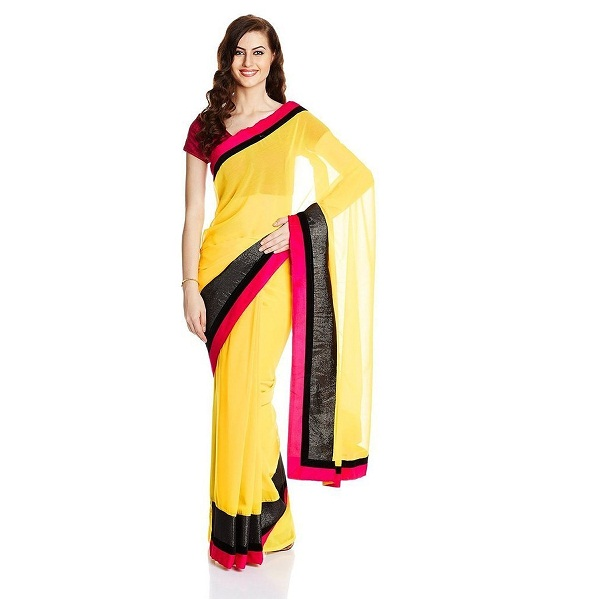 SareeShop Womens Chiffon Saree