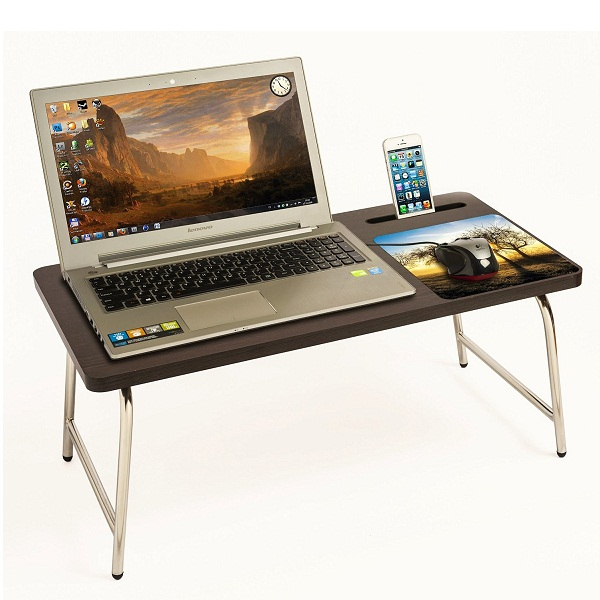 Riona Bed Laptop Table with inbuilt Mobile Stand And Mousepad
