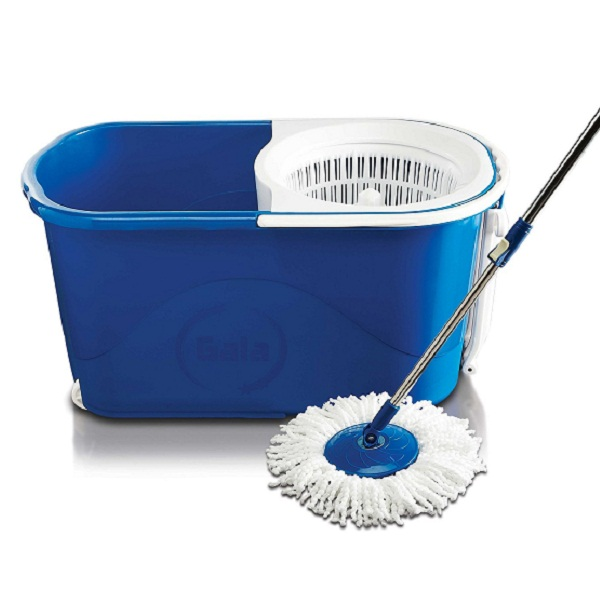 Gala Spin mop with easy wheels and bucket for magic 360 degree cleaning with 2 refills