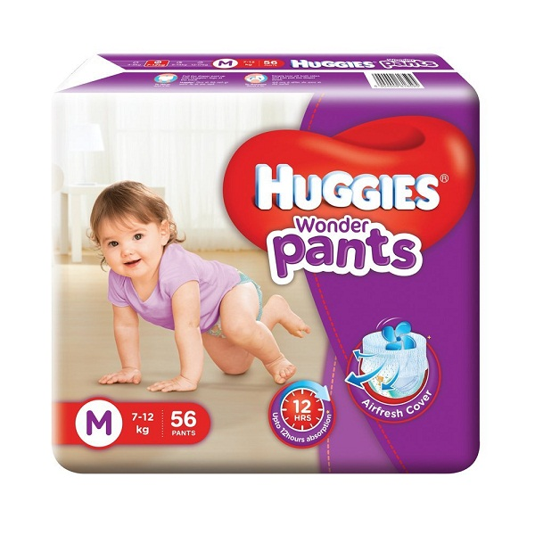 Huggies Wonder Pants Medium Size Diapers 56 Count