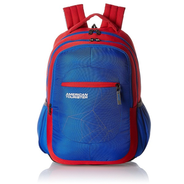 American Tourister Ebony Red Casual Backpack