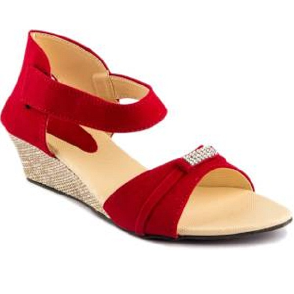Womens Club Girls Red Wedges