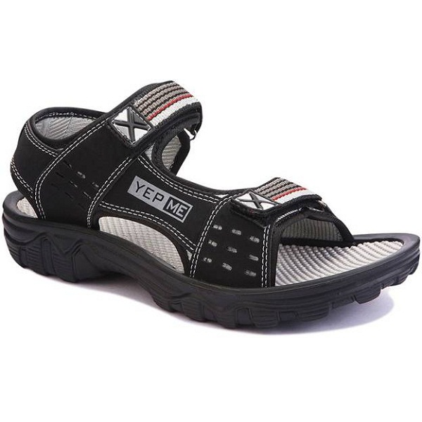 Yepme Mens Black Grey Sandals