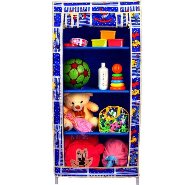 CbeeSo Royal Blue Stainless Steel Collapsible Wardrobe