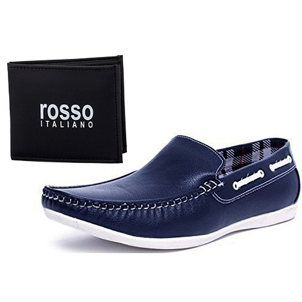 Rosso Italiano Mens Loafers With Wallet