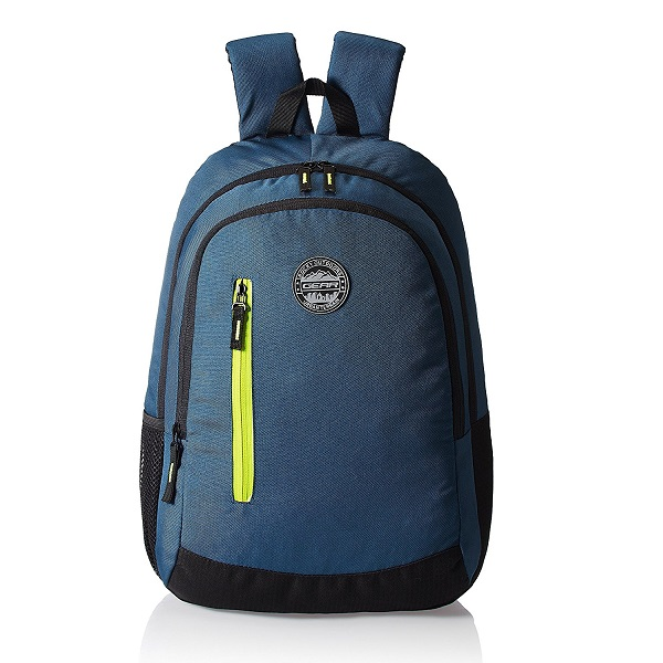 GEAR Navy Blue and Green Casual Eco Backpack
