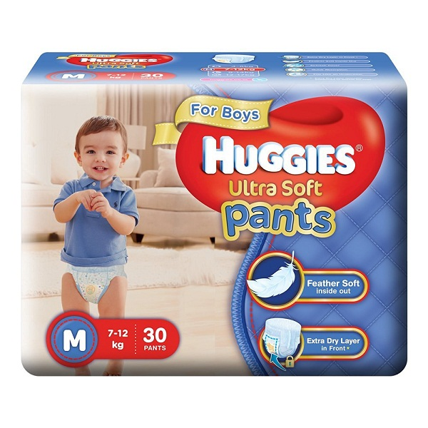 Huggies Ultra Soft Pants Medium Size Premium Diapers for Boys