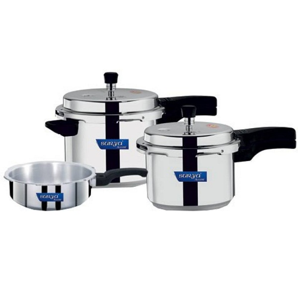Surya Accent Induction Bottom Pressure Cooker Combo