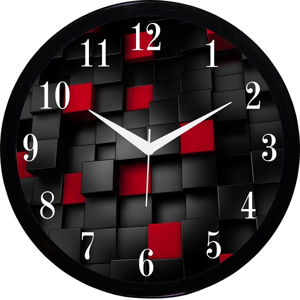IT2M Round Wall Clock With Glass