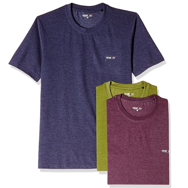 Newport Mens Synthetic TShirt Pack of 3