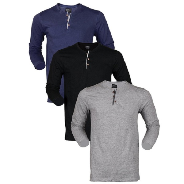 Maniac Mens Full Sleeve V Neck Tshirts Combo Pack of 3