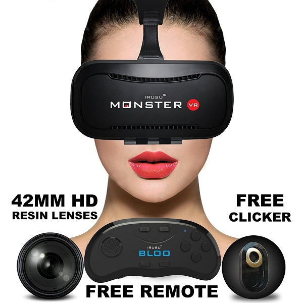 IRUSU MONSTER VR with Bluetooth Remote