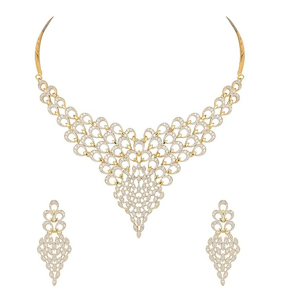 302febd4f8 Buy Now · MGold Gold Plated Diamond Look Necklace Set