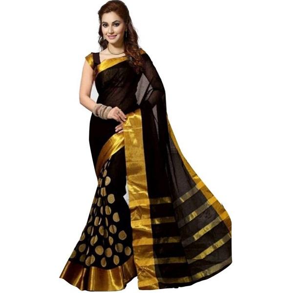 a113e9f600d325 Ishin Self Design Bollywood Poly Silk Sari
