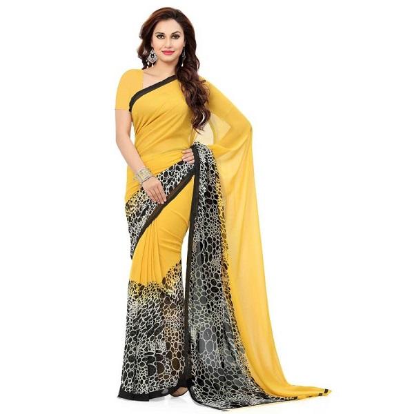2234073613c203 Ishin Printed Bollywood Synthetic Georgette Sari