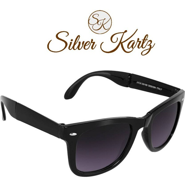 71c9290ecd3 Silver Kartz Folding Delight Wayfarer Sunglasses