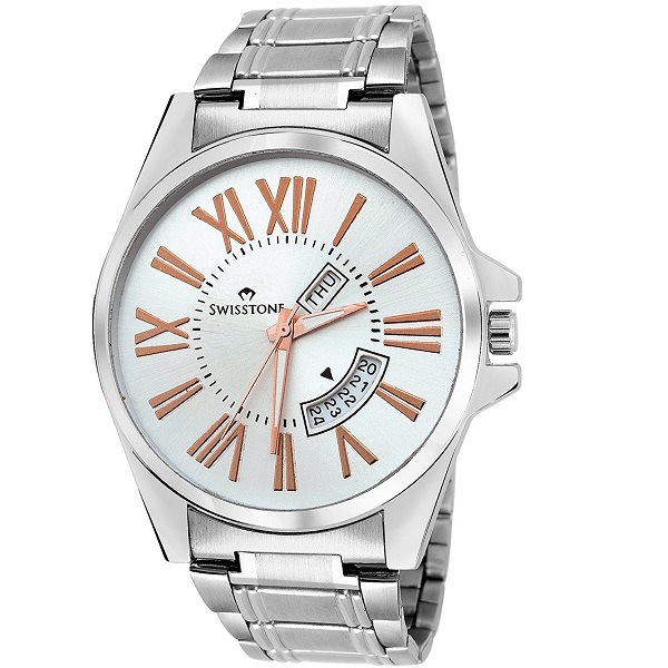 Swisstone Analogue Silver Dial Mens Watch