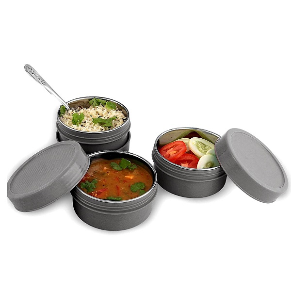BMS MaxFresh 2in1 Steel And Polypropylene Lunch Box Set