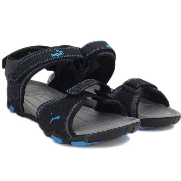 Puma Men Black Blue Atoll Sports Sandals