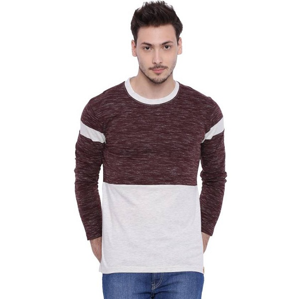 299355883a07 Campus Sutra Solid Mens Round Neck Multicolor T Shirt