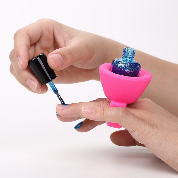 Cutesy Wearable Nail Polish Bottle Holder Ring