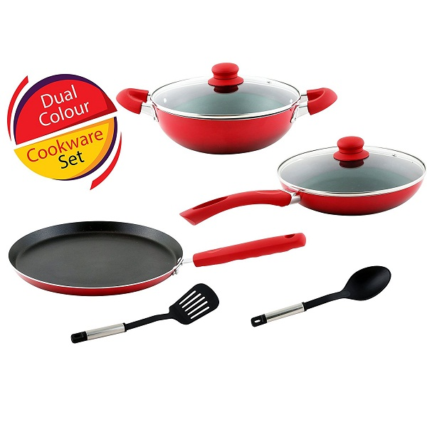 Non Stick Kitchen Set With Price: Kitchen Craft Induction Non Stick Cookware Combo Price In