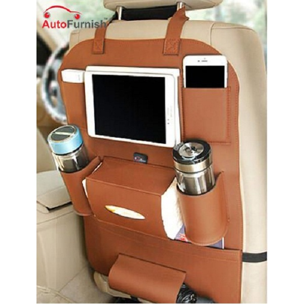 Autofurnish 3D Car Auto Seat Back Multi Pocket Storage Bag
