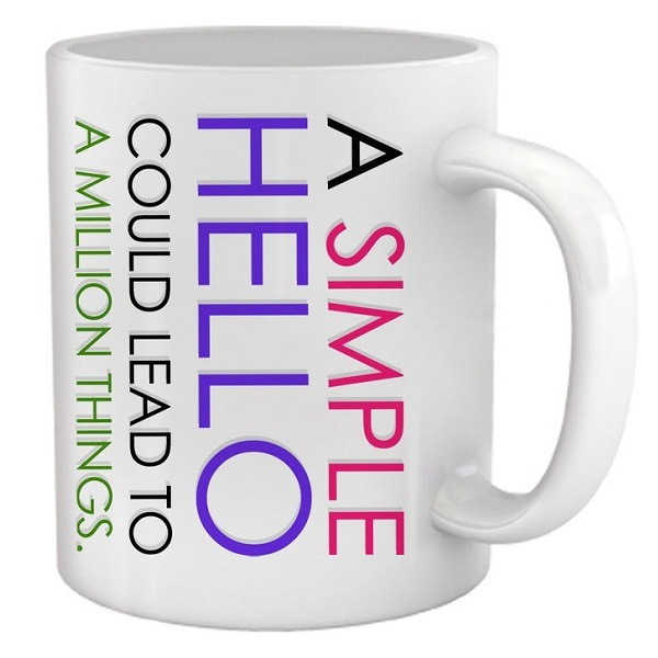 A Simple Hello Gifts For Friend Coffee Mug