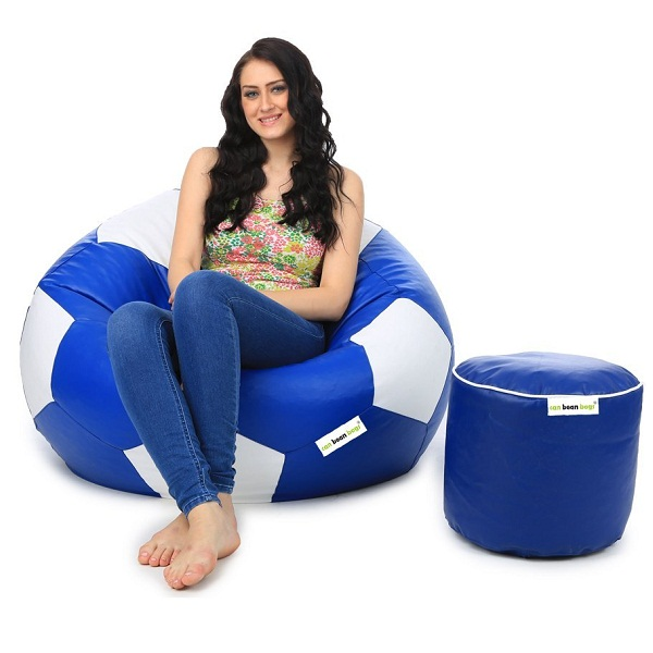 Can Football XL Bean Bag and Pouffe without Beans