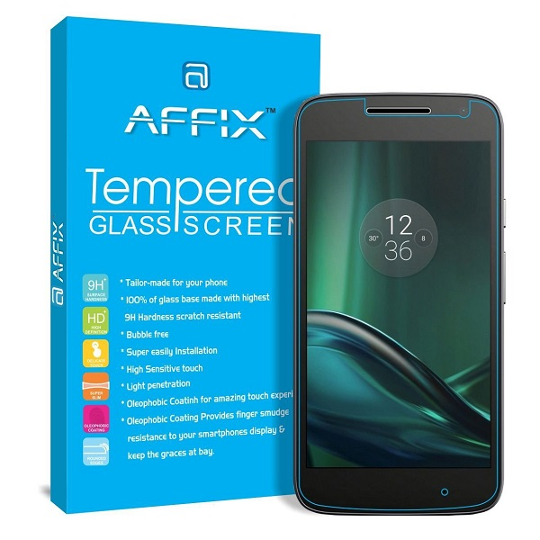 Affix Premium Tempered Glass For Motorola Moto G Play 4th Gen