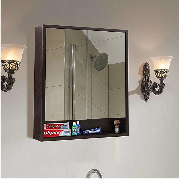 klaxon decor wooden bathroom mirror cabinet - Bathroom Mirror Cabinet Price India