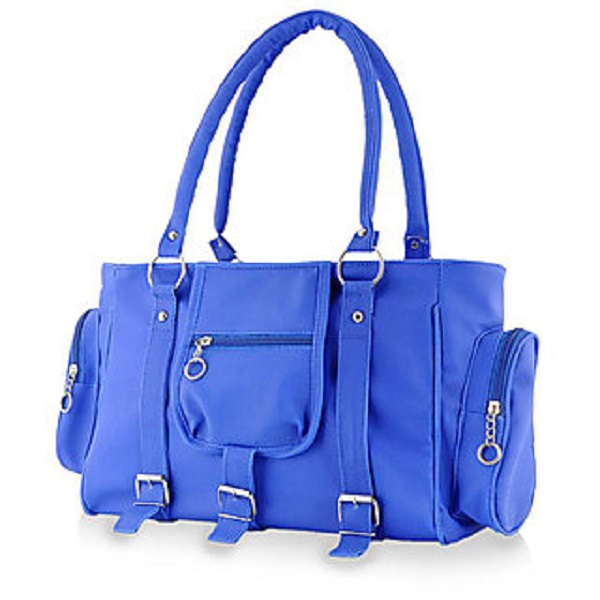 Chhavi Blue Plain Handbag