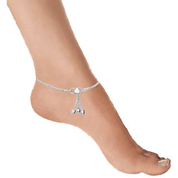 Silver Plated Pair Of Anklets