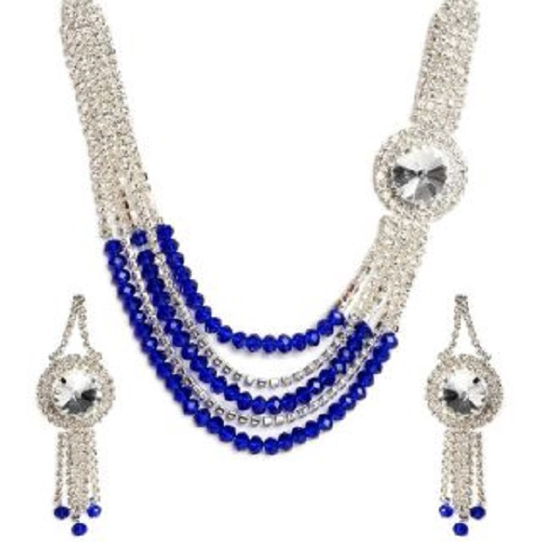The Pari Silver Plated Multicolor Alloy Necklace Set
