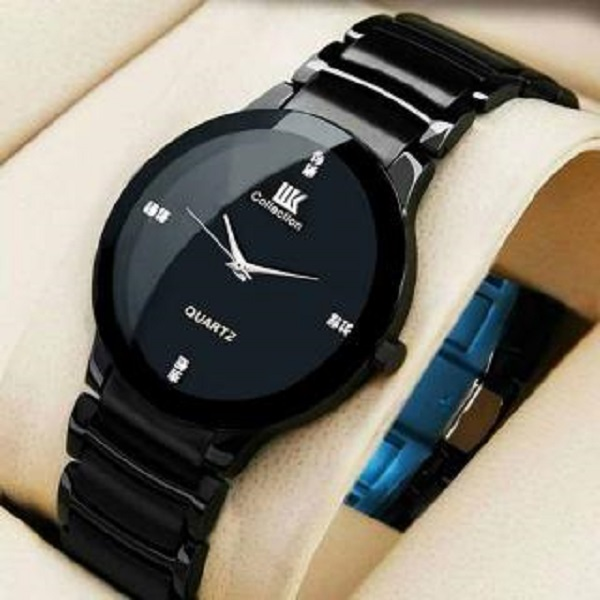004cd7a35 iik Collection Black Classic officially Watch price in india ...