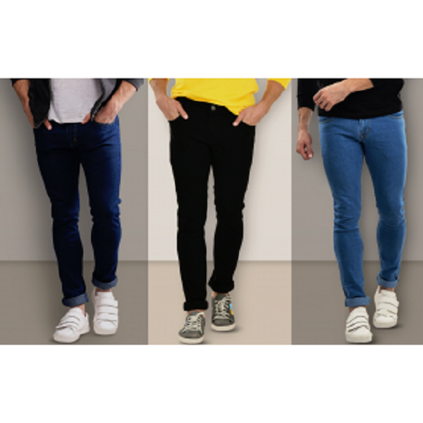 Stylox Mens Combo of 3 Slim Fit Jeans