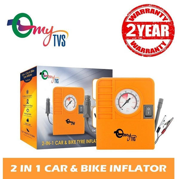 myTVS 2 in 1 Car And Bike Tyre Inflator