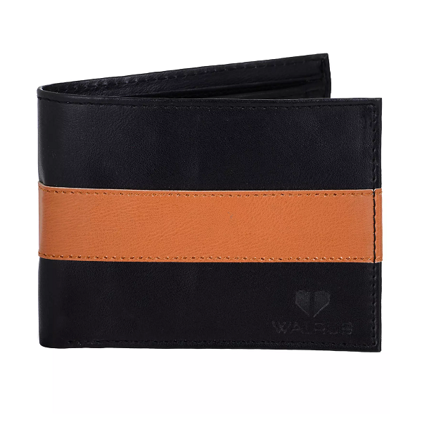 Walrus Ryan Black And Brown Color Men Leather Wallet