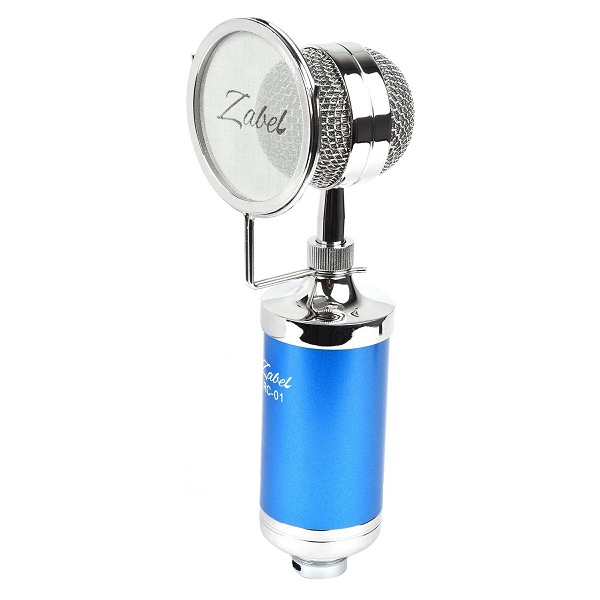 Zabel Condenser Microphone with Shock Mount and Pop Filter