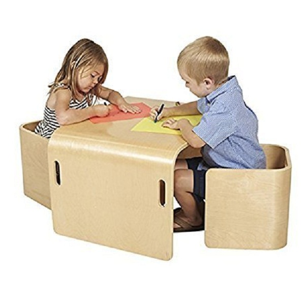 Hariom Handicraft Multipurpose Kids Study Table and Chair Set