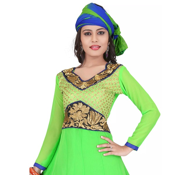 Anarkali Unstitched Dress Material Suits