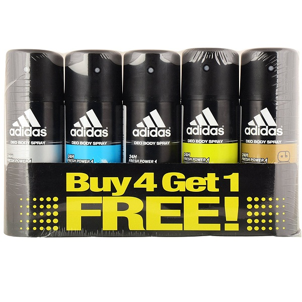 Adidas Deodorant For Men 150 Ml Pack Of 5