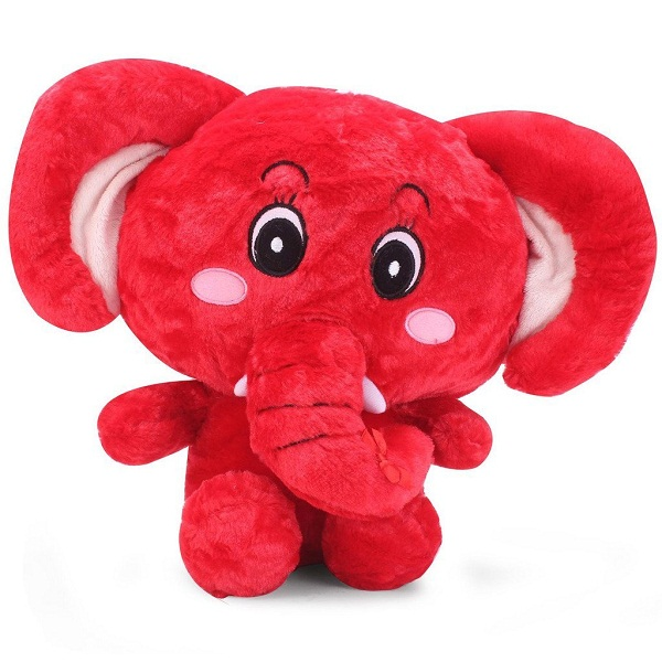 Tickles Red Cute Eye Big Ear Elephant Stuffed Soft Plush Toy