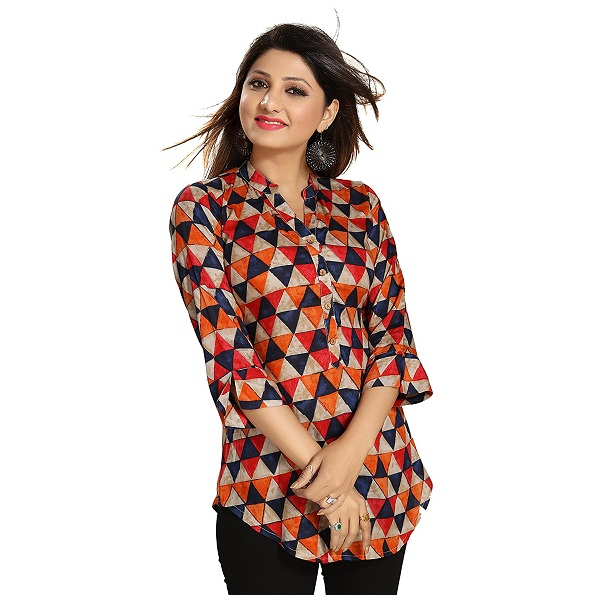 The Dressery Womens Rayon Printed Top