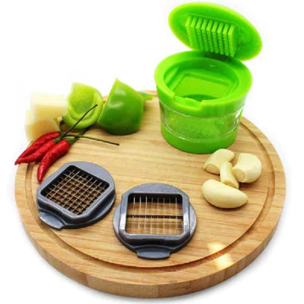 Home Belle Green ABS Plastic Garlic Chopper