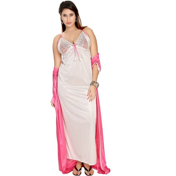 74caa474a2 Fashigo Women Nighty with Robe