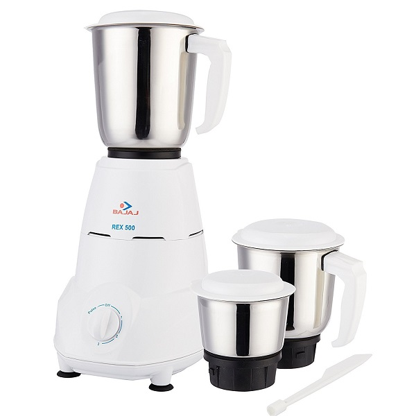 Bajaj Rex 500Watt Mixer Grinder with 3 Jars