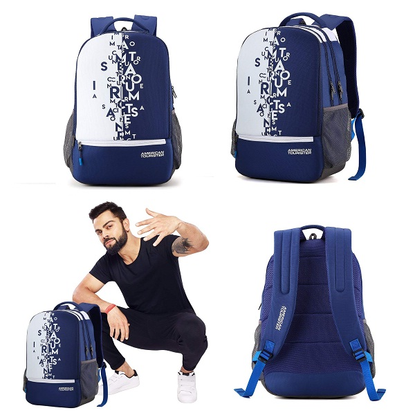 American Tourister 32 Ltrs Blue Casual Backpack